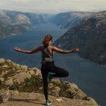 hiking yoga